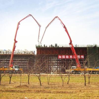 三一泵车在京沪高铁济南段施工